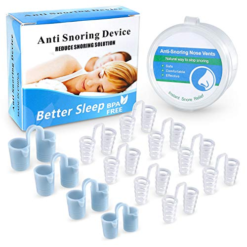 Anti Snoring Devices,Stop Snoring Anti Snoring Nose Vents Plugs Nose Dilator Snoring Sleep Aid for Men and Women 12pcs,Ease Breathing,Healthy Sleeping Helper