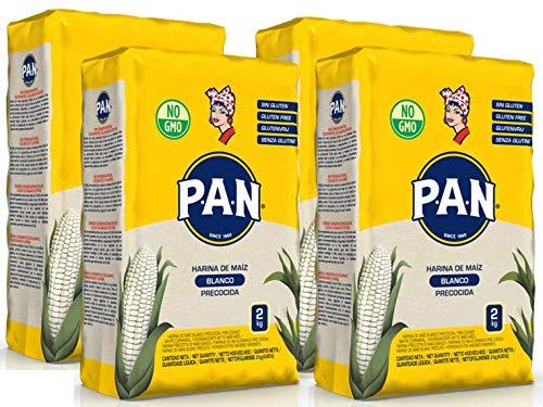 P.A.N. Harina de Maiz Blanca Precocida 4 x 2kg