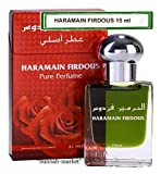 Limited edition *Firdous* non alcoholic 15ml perfume/attar for men with sandalwood, Musk, Moss and Lilly of the Valley by Al Haramain