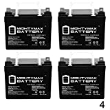 Mighty Max Battery 12V 35AH SLA Battery for Doorking Power Inverter 1000-4 Pack Brand Product
