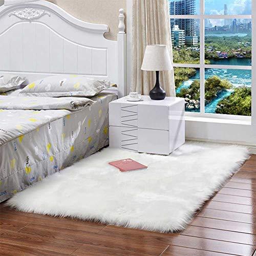 OUYAWEI Home Wasbaar Faux Schapenvacht Stoel Cover Warm Harige Wol Tapijt Seat Pad pluizig gebied tapijten
