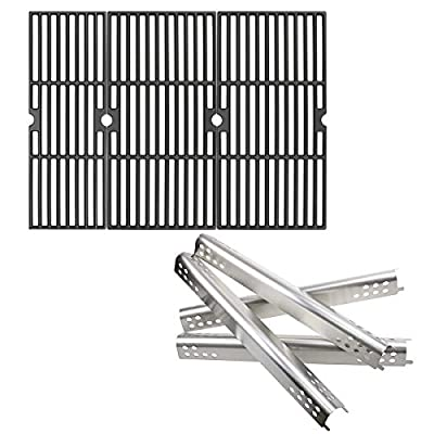 Hisencn Grill Kits for Charbroil Performance 463377017, 463347017, 463376018P2, 463376117, 463377117, 463673617, Heat Plate and Cooking Grid for Charbroil 475 Cart Liquid Propane Gas Grill (4)