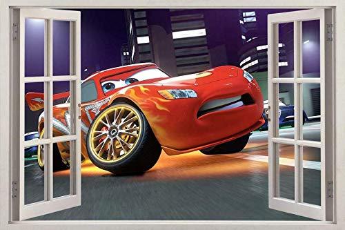 Pegatinas de pared Cars Movie 3D Window Decal Wall Sticker Home Decor Art