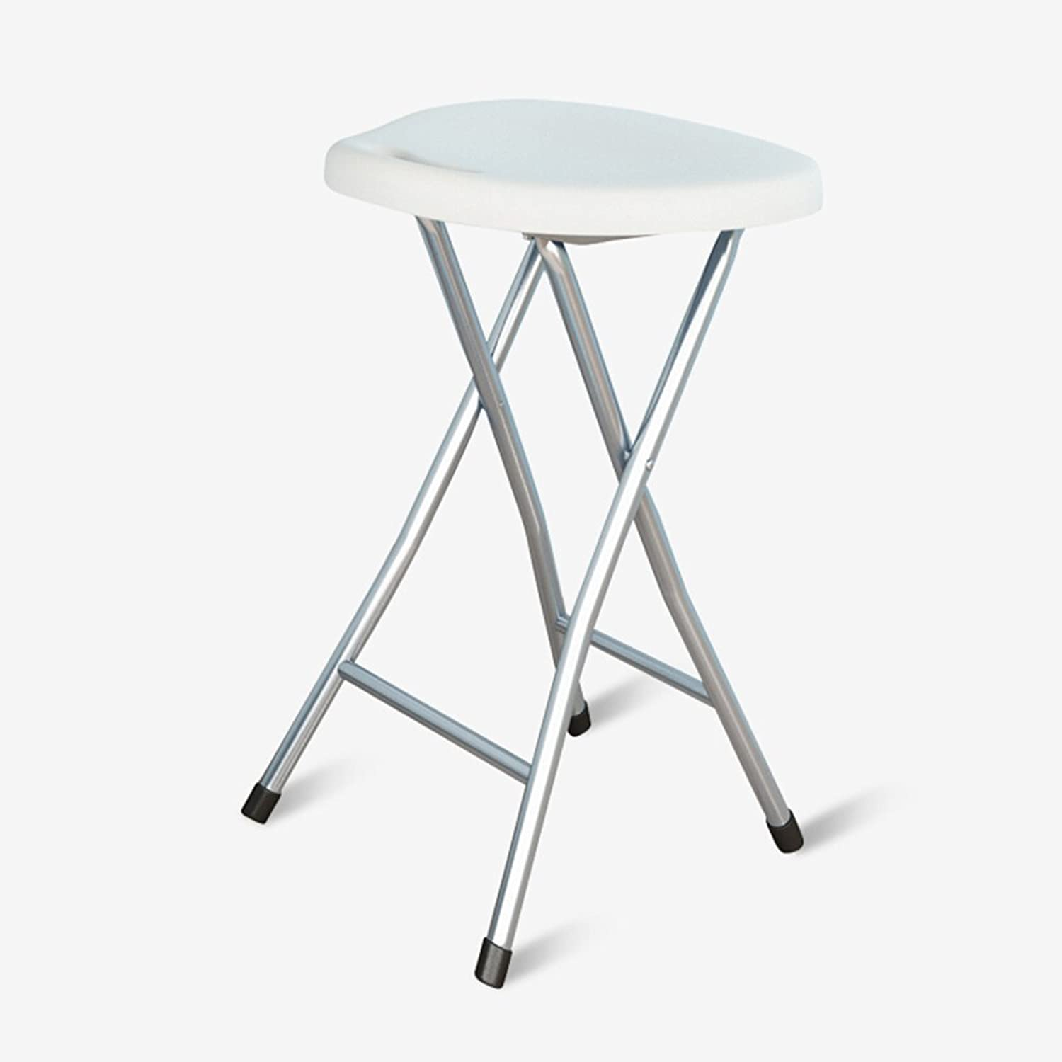 Folding stool chair   plastic office computer stool   home leisure portable stool   fishing stool ( color   White )