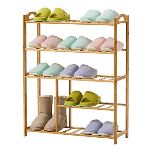 ZSHxj Racks à Chaussures, 5 Niveaux de Bambou Naturel Bench Boot Bench Organisateur Rack pour Chaussures étagère Titulaire Organisateur de Stockage (70 * 25 * 88 cm)