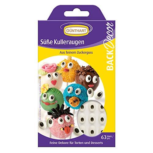 63 Günthart BackDecor Kulleraugen aus Zucker | Cupcakes | Cakepop | Monster