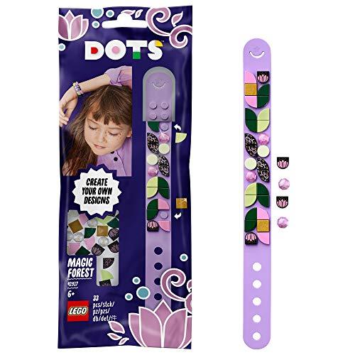 Bracelets DOTS Bracelet forêt magique Ensemble de perles de bijoux à bricoler soi-même, meilleur ami cadeaux Arts et artisanat pour enfants, multicolore (Lego ES 41917)