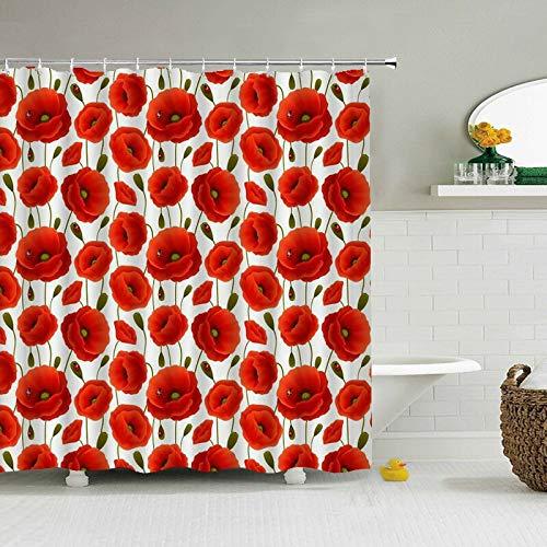 XCBN 3D-Druck Sonnenblume Blume Duschvorhänge Badezimmervorhang Wasserdichtes Tuch Mit Haken Bad Wohnkultur A10 180x200cm