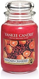 Mandarin Cranberry Large Scented Jar by Yankee Candle [並行輸入品]
