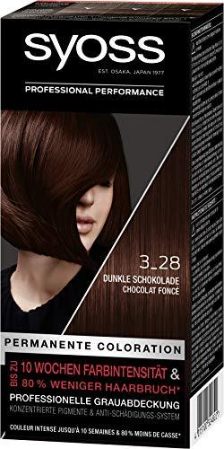 Syoss Coloration Stufe 3 3_28 Dunkle Schokolade, bis zu 10 Wochen Farbintensität, 3er Pack(3 x 115 ml)