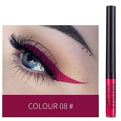 ROMANTIC BEAR Professioneller Wasserdichter Flüssiger Filzstift Eyeliner Pen für Einfach zu Tragende Glitter Eyeliner Pen Set 12 Farben