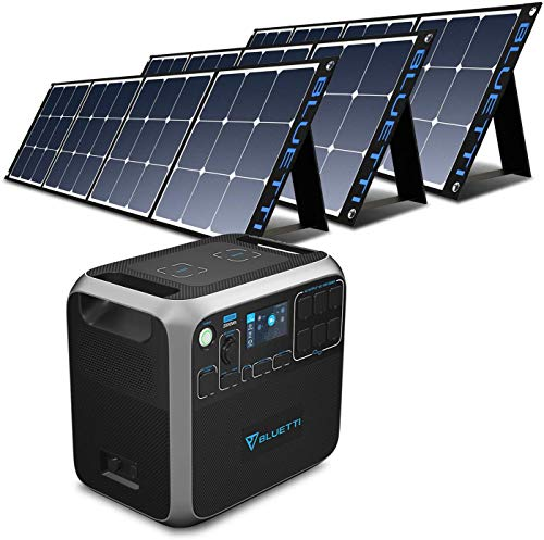 BLUETTI AC200P 2000Wh Portable Power Station Bundle with 3pcs 120W Solar Panel, 2000W Solar Generator with 6120V AC Outlet Lithium Battery Backup for Home Outdoor Camping RV