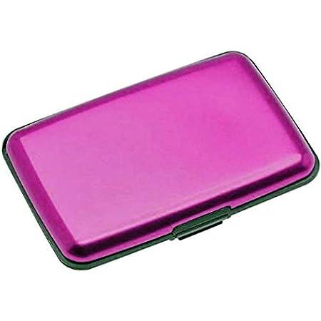 Aluminium Credit Card Holder Wallet CASE Purse Metal Business Card Protector UK (Pink)