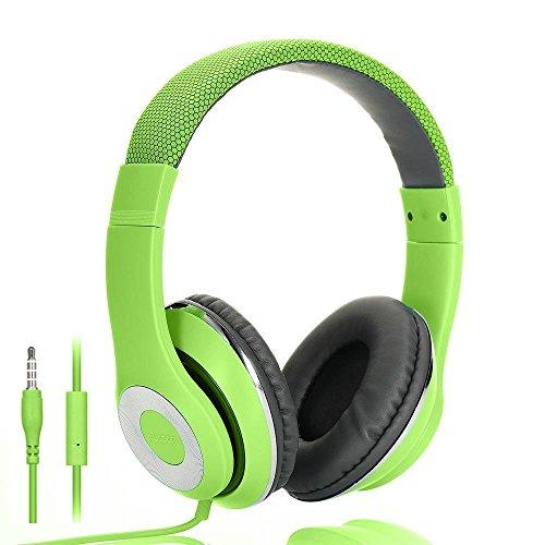 On Ear Kopfhörer, AUSDOM Faltbare Headphone mit Mikrofon, Wired Over-Ear Headset Leicht Studiokopfhörer mit HiFi Stereo für iPhone, iPad, Samsung, Huawei, HTC, TV, Laptop, Tablet