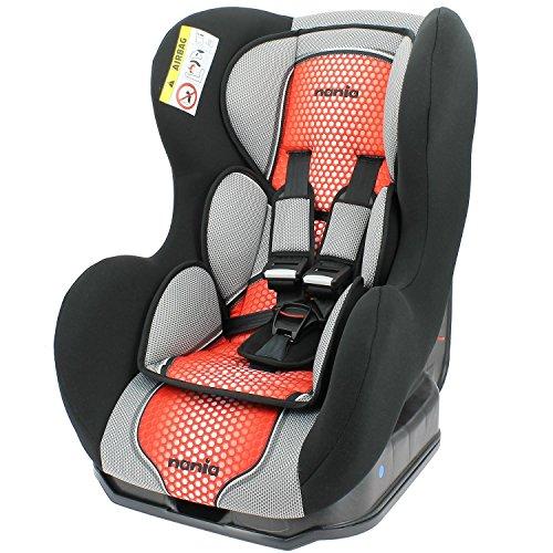 Mycarsit - Silla de coche grupo 0+/1 de 0 a 18 kg con proteciónes laterales - fabricación 100% francesa - 3 estrellas test tcs - 4 colorido - reposa cabeza y asiento acolchados