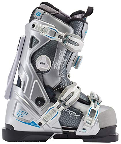 Apex Ski Boots Blanca All Mountain Ski Boots (Women's Size 25) Walkable Ski Boot System with Open-Chassis Frame for Intermediate/Advanced Skiers