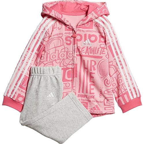 adidas I Graph FZ HD J Trainingsanzug für Babys, Unisex, mehrfarbig (Rossua/Seroso/Weiß), 62