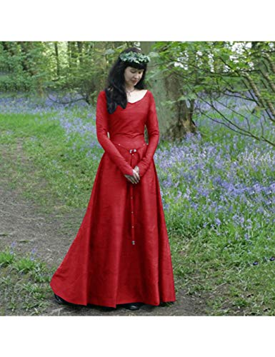 GBYAY Vestido de Bruja para Mujer Disfraces de Halloween Cosplay Vestido de Bruja para Mujer Vestido Largo Talla Grande