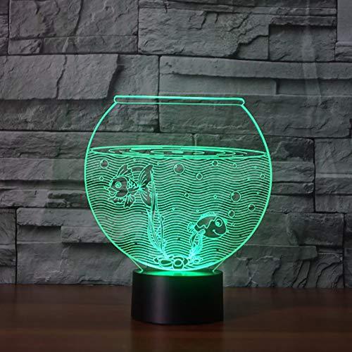 LLZGPZXYD 3D LED aquarium modellering tafellamp touch schakelaar goudvis nachtverlichting geschenk LED Luminary Home slaapkamer verlichting Touch And Remote