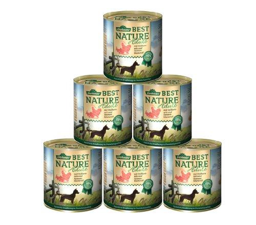 Dehner Best Nature hondenvoer, zalm en gevogelte met rijst, Zalm en gevogelte met rijst, 6 x 800 g