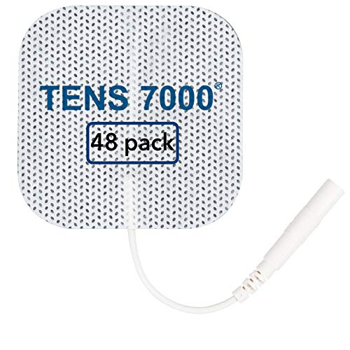 """TENS 7000 Official TENS Unit Pads - 48 Pack, Premium Quality OTC TENS Pads, 2"""" X 2"""" - Compatible with Most TENS Machines, Replacement Electrodes Value Pack"""
