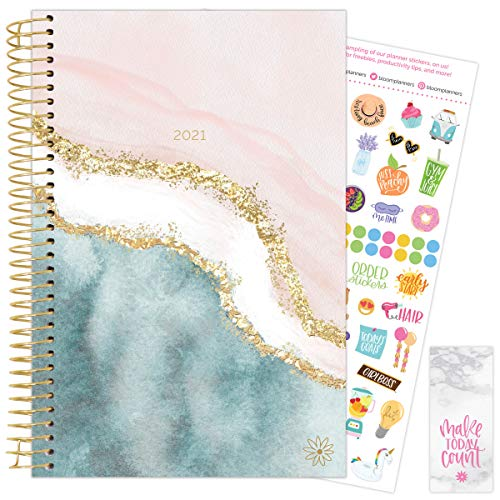 HARDCOVER bloom daily planners 2021 Calendar Year Day Planner Woman with a Plan January 2021 - December 2021 6 x 8.25 - Passion//Goal Organizer Monthly /& Weekly Inspirational Agenda Book