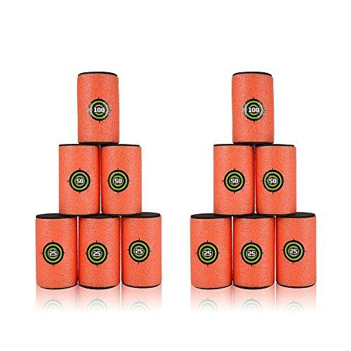 Yosoo EVA Soft Juego de latas para Nerf Elite Series para niños Toy Gun (12 piezas - 3.9 x 2.4inch)