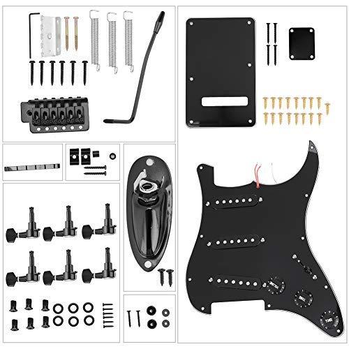 Kit de guitarra eléctrica negra, kit de guitarra de bricolaje, kits de instrumentos musicales de alta calidad para guitarras estilo ST