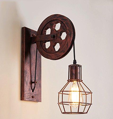 HOHE SHOP/Lampe murale rétro style rétro rétro rétro lampe murale (Couleur : A)