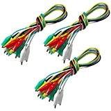 Goupchn 30PCS Alligator Clips Test Leads Electrical Cable Test Leads Set Double Ended Crocodile Clips Jumper Wires 5 Colors