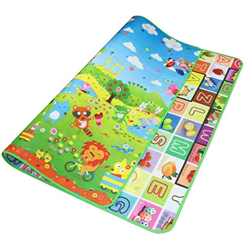 Play Baby Play portátil Crawling Mat, Pisos plegables suaves extra grandes Puzzle impermeable Puzzle Puzzle Crawling Mat (Color : Multicolora)