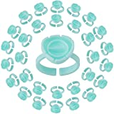 Pretty memory 100PCS Smart Glue Cups Lash Glue Holder Fanning Cup for Eyelash Extensions, Green