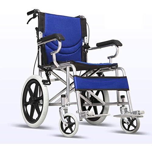 Silla De Ruedas Autopropulsada, Silla De Ruedas Cómoda De Tránsito para La Independencia O Dispositivo De Movilidad Manual De Conveniencia del Cuidador para Ancianos