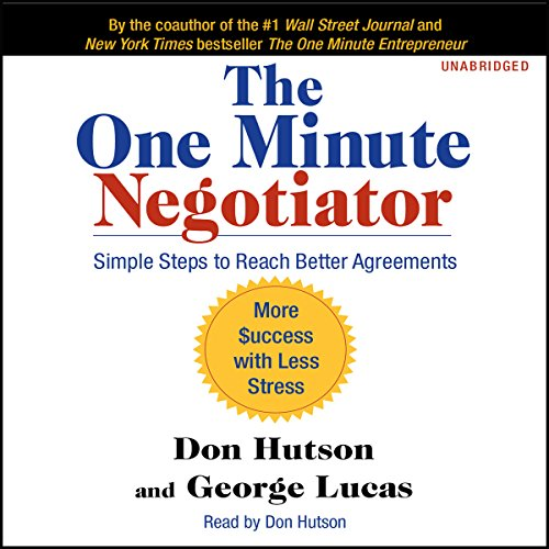 The One Minute Negotiator audiobook cover art