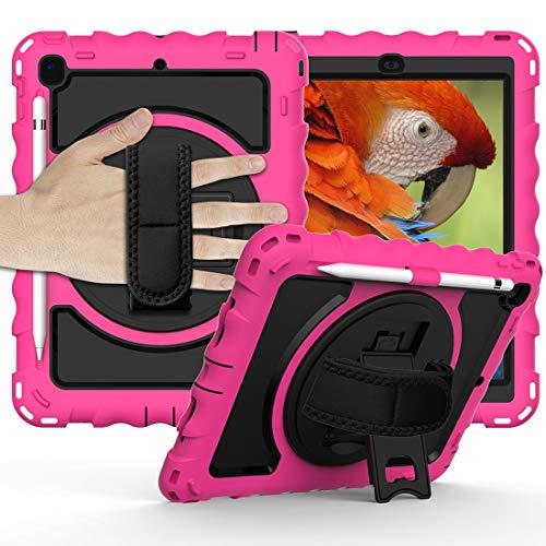 Tablet PC Bolsas Bandolera Caja protectora es de Nueva iPad9.7 2017/2018 Caja protectora anti-gota con todo incluido durable con el soporte giratorio / correa de mano y la caja protectora de la correa