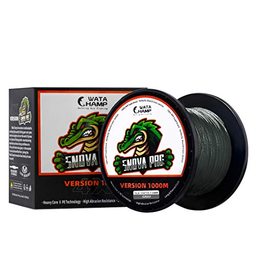 WataChamp Snova Pro Braided Fishing Line 6lb-100lb Incredible Superline Abrasion Resistant Braided Lines Super Strong High Performance (2 Spools for 164 Yards Package)