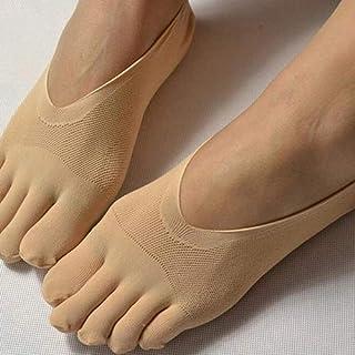 1 par de Calcetines de Dedo del pie Hueco Antideslizantes Invisibles ultrafinos no Show para Mujer Calcetines de Cinco Dedos Desnudo