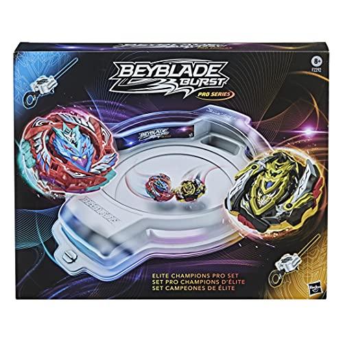 Hasbro Beyblade Burst Pro Series Elite Champions Pro Set – Battle Spielset mit Beystadium-Arena, 2 Kreiseln und 2 Startern