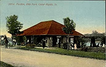 Pavilion, Ellis park Cedar Rapids, Iowa Original Vintage Postcard
