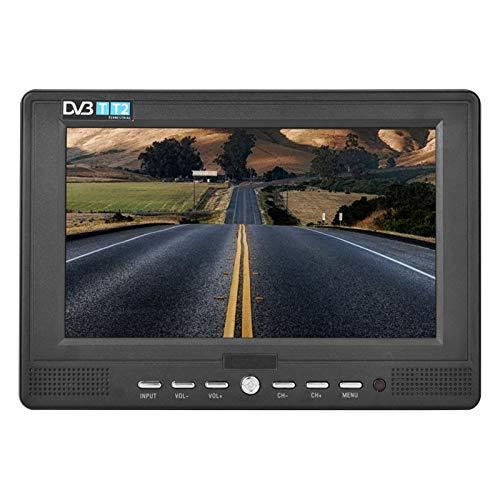 Mini TV numérique,Portable 7 Pouces 16: 9 ATSC 1080P HD de Poche Télévision de Voiture Lecteur vidéo de Bureau Supporte la télévision analogique,Télévision numérique,VTT pour la Maison(EU)