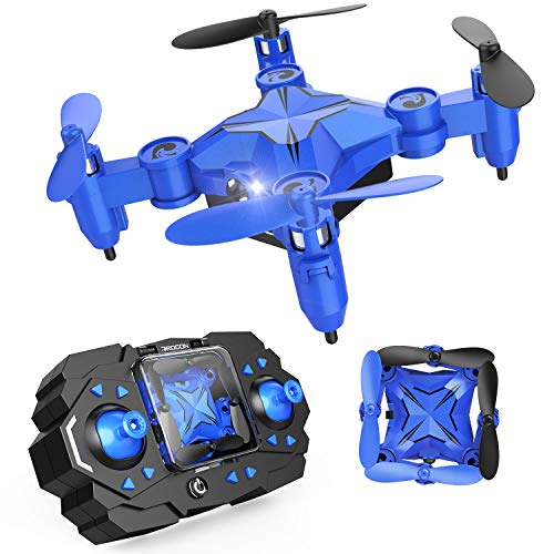 DROCON Mini Drone for Kids and Beginners, Foldable Mini RC Helicopter Quadcopter with Altitude Hold, Headless Mode, 3D Flips and High-Speed Spin Function, Fun Gift