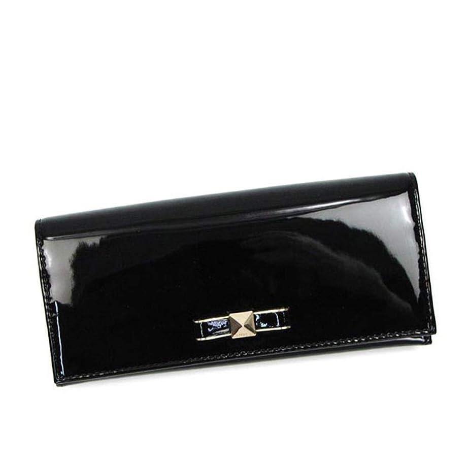 囲まれた本当にキャンディー[フルラ] 財布 CHANTILLY XL BIFOLD 艶長財布 ブラック [並行輸入品]