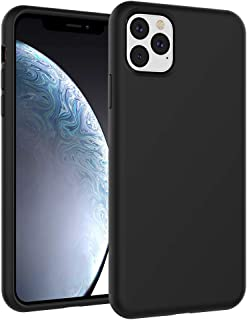 Silicone Design for iPhone 11 Pro Max Case 6.5 inch, Nuomaofly Liquid Silicone Gel Rubber with Microfiber Cloth Lining Case Cover for iPhone 11 Pro Max 6.5 inch 2019 (Black)