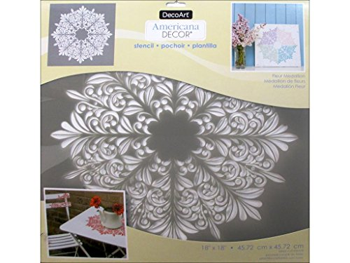 Deco Art Decads-k.414 Décor Pochoir 18 x 18 Fmedalln Americana Pochoir 18 x 18 Fmedallion