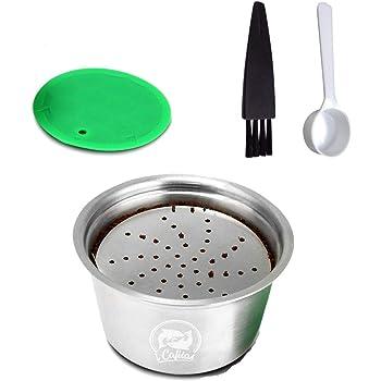 Konesky Cápsula de Café Reutilizable, 1 Juego Acero inoxidable Recargable Tazas de Filtro de Café Compatible para Máquinas Dolce Gusto con Sabotaje de Café