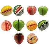 フルーツメモ 立体 3Dメモ まるで本物の果物みたいなメモ帳 11種類セット フルーツメモ帳 癒しステーショナリー