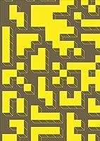 igsticker ポスター ウォールステッカー シール式ステッカー 飾り 841×1189㎜ A0 写真 フォト 壁 インテリア おしゃれ 剥がせる wall sticker poster 007570 ユニーク 黄色 イエロー 模様 迷路