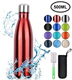 flintronic Botella Termica, 500ML Botella de Agua de Acero Inoxidable,...