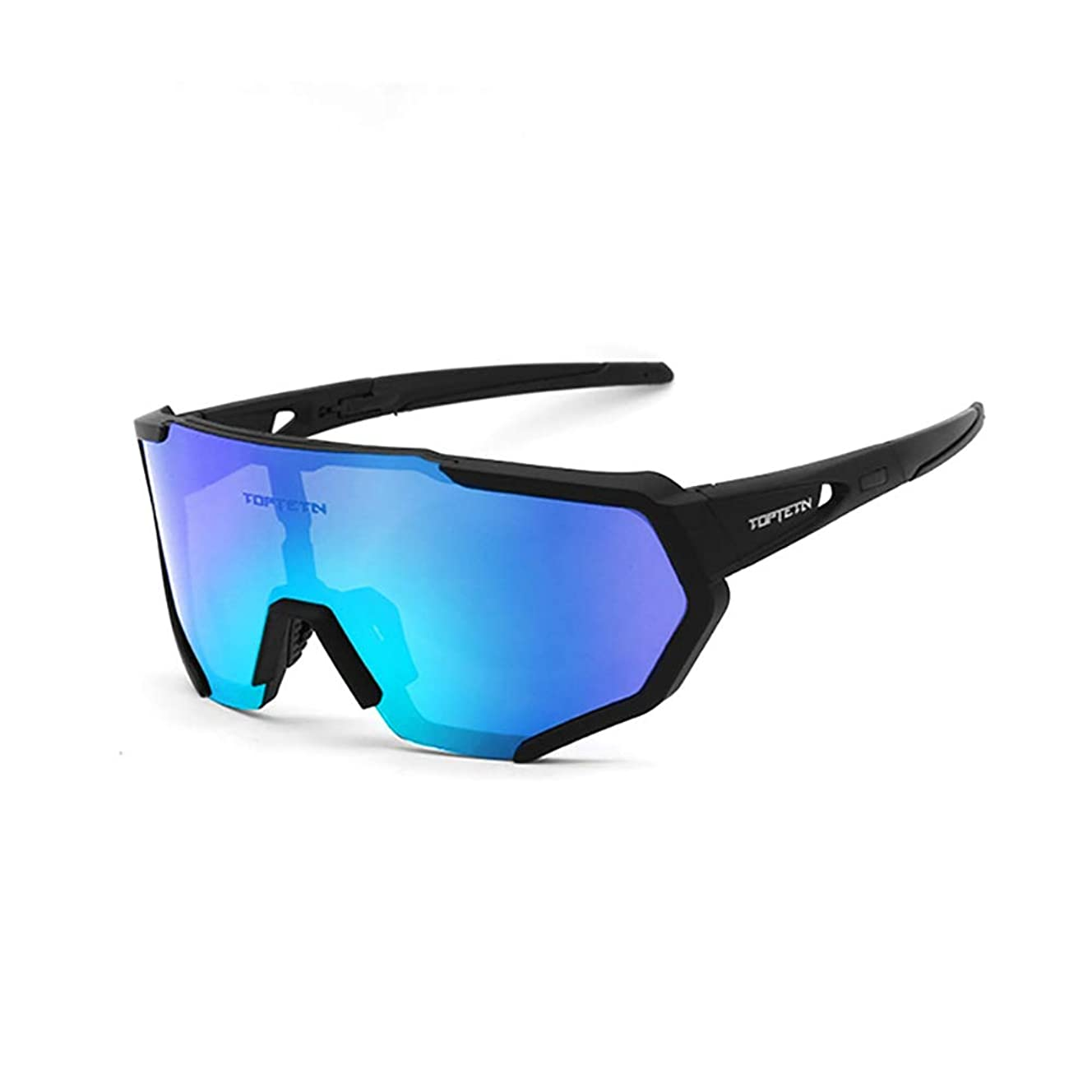 TOPTETN Polarized Sports Sunglasses for Men Women Cycling Running Driving