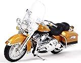 AMITD Modèle de Moto Au Ratio 1/18, Modèle de Moto en Alliage de Simulation Statique, Modèle Miniature de Voiture de Jouet, avec Support, Suspension Et Rouleau Libre, Collection de Motos